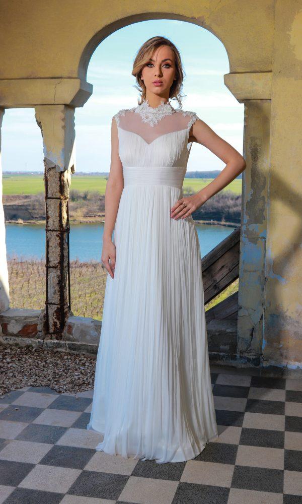Caty rochie de mireasa - Demna de o printesa moderna, aceasta rochie bifeaza toate cerintele unei femei simple care apreciaza stralucirea