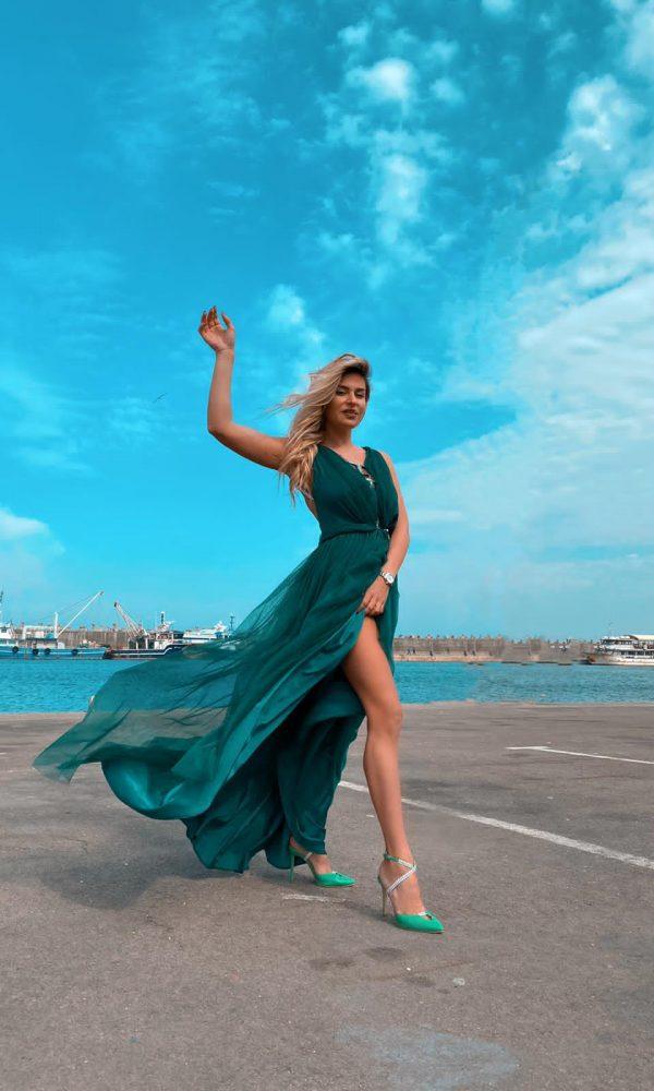 Rochie Jade - Rochie de ocazie Colour cruise collection | Essalian.com - Email: office@essalian.com | Bucuresti